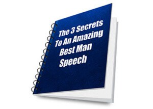 3 Secrets To An Amazing Best Man Speech eBook Cover