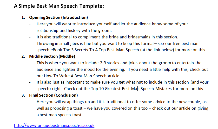 Best man speech writing service uk